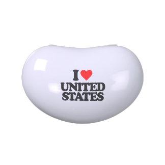 I LOVE UNITED STATES CANDY TIN