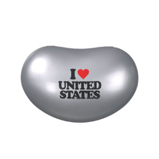 I LOVE UNITED STATES JELLY BELLY CANDY TIN