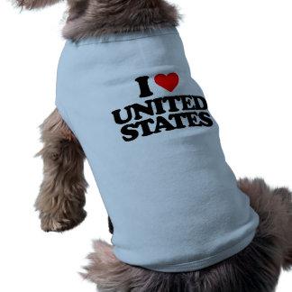 I LOVE UNITED STATES DOGGIE TEE SHIRT