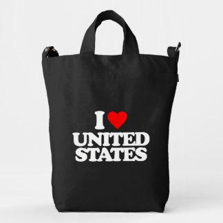 I LOVE UNITED STATES DUCK BAG