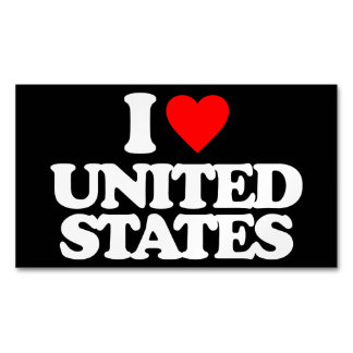 I LOVE UNITED STATES MAGNETIC BUSINESS CARDS (Pack OF 25)