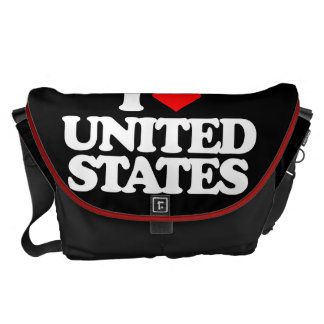 I LOVE UNITED STATES COURIER BAG