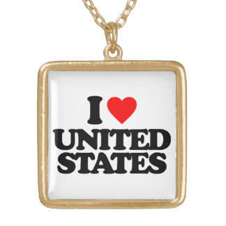 I LOVE UNITED STATES NECKLACE