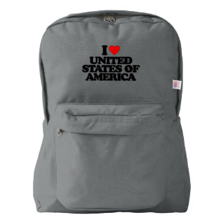 I LOVE UNITED STATES OF AMERICA AMERICAN APPAREL™ BACKPACK