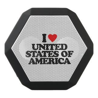 I LOVE UNITED STATES OF AMERICA BLACK BLUETOOTH SPEAKER