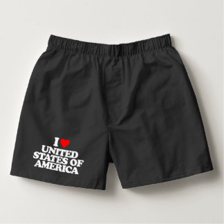 I LOVE UNITED STATES OF AMERICA BOXERS