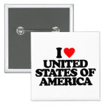I LOVE UNITED STATES OF AMERICA BUTTON