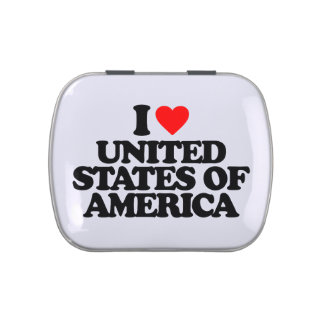 I LOVE UNITED STATES OF AMERICA JELLY BELLY CANDY TINS