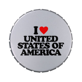 I LOVE UNITED STATES OF AMERICA CANDY TINS