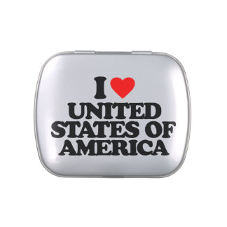 I LOVE UNITED STATES OF AMERICA JELLY BELLY TINS