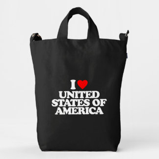 I LOVE UNITED STATES OF AMERICA DUCK BAG