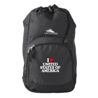 I LOVE UNITED STATES OF AMERICA HIGH SIERRA BACKPACK