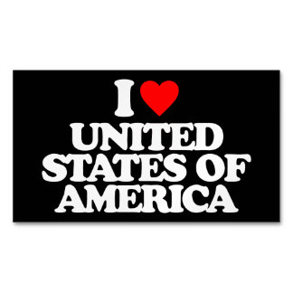 I LOVE UNITED STATES OF AMERICA MAGNETIC BUSINESS CARD