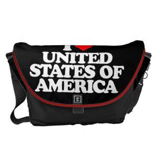 I LOVE UNITED STATES OF AMERICA MESSENGER BAG