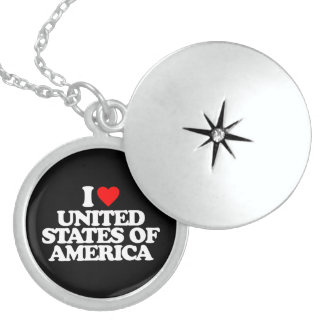 I LOVE UNITED STATES OF AMERICA NECKLACE