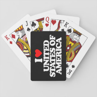 I LOVE UNITED STATES OF AMERICA POKER CARDS