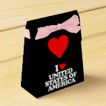 I LOVE UNITED STATES OF AMERICA PARTY FAVOR BOXES