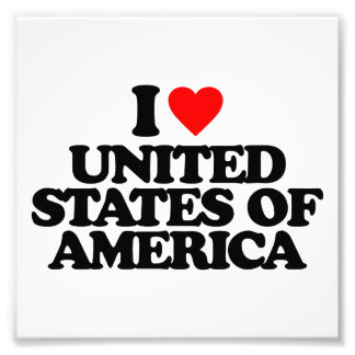 I LOVE UNITED STATES OF AMERICA PHOTO ART