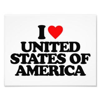 I LOVE UNITED STATES OF AMERICA PHOTOGRAPHIC PRINT