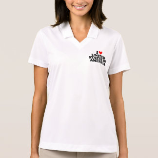 I LOVE UNITED STATES OF AMERICA POLO T-SHIRTS