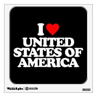 I LOVE UNITED STATES OF AMERICA ROOM GRAPHIC
