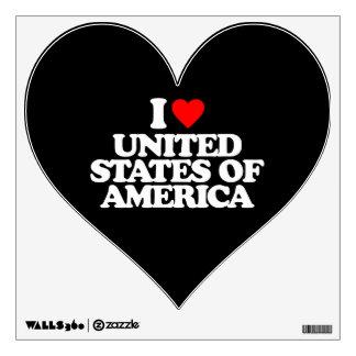 I LOVE UNITED STATES OF AMERICA ROOM GRAPHICS