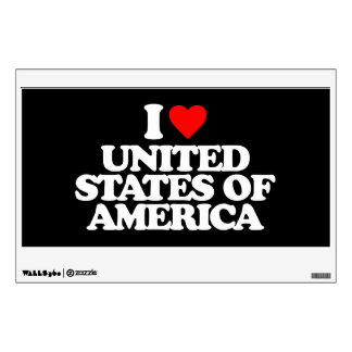 I LOVE UNITED STATES OF AMERICA ROOM DECAL