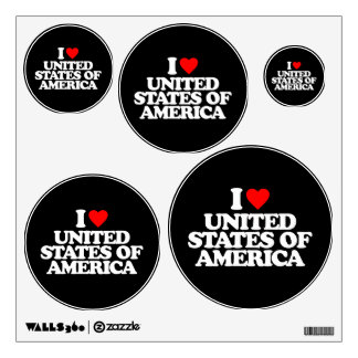 I LOVE UNITED STATES OF AMERICA WALL GRAPHIC