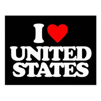 I LOVE UNITED STATES POSTCARDS