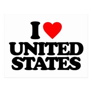 I LOVE UNITED STATES POSTCARD