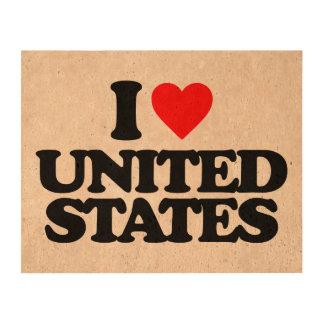 I LOVE UNITED STATES CORK FABRIC