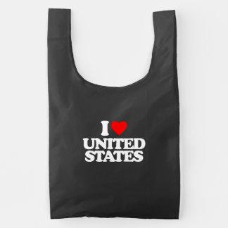 I LOVE UNITED STATES REUSABLE BAG
