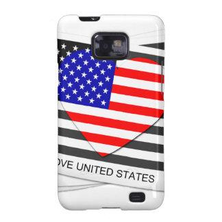 I love United States - SS Galaxy Galaxy S2 Case
