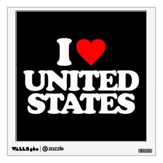 I LOVE UNITED STATES WALL GRAPHICS