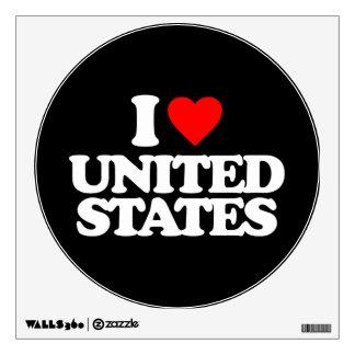 I LOVE UNITED STATES ROOM GRAPHIC