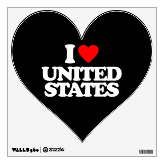 I LOVE UNITED STATES WALL GRAPHIC