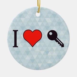 I Love Unlocking My Dreamhouse Ceramic Ornament