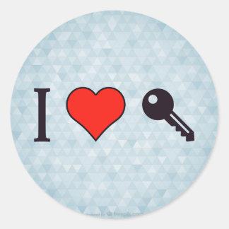 I Love Unlocking My Dreamhouse Classic Round Sticker