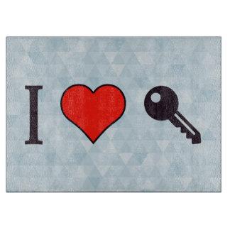 I Love Unlocking My Dreamhouse Cutting Board