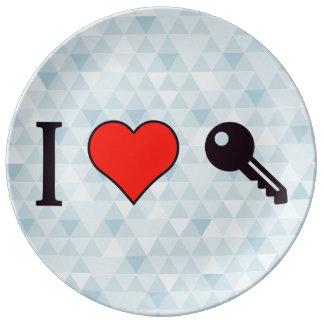 I Love Unlocking My Dreamhouse Dinner Plate