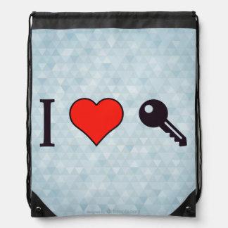 I Love Unlocking My Dreamhouse Drawstring Bag