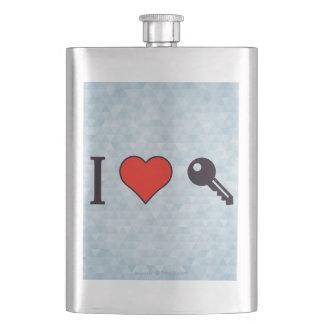 I Love Unlocking My Dreamhouse Hip Flask