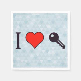 I Love Unlocking My Dreamhouse Paper Napkin