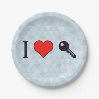 I Love Unlocking My Dreamhouse Paper Plate