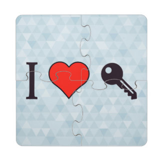 I Love Unlocking My Dreamhouse Puzzle Coaster