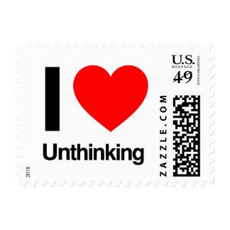 i love unthinking postage