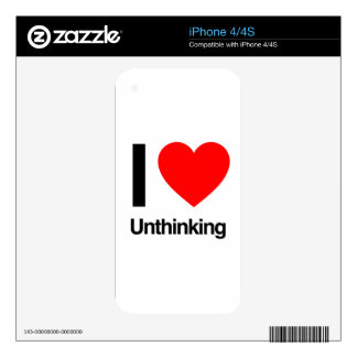 i love unthinking decals for the iPhone 4