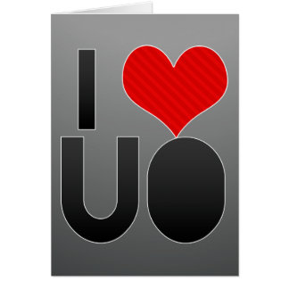 I Love UO Stationery Note Card