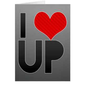 I Love UP Stationery Note Card