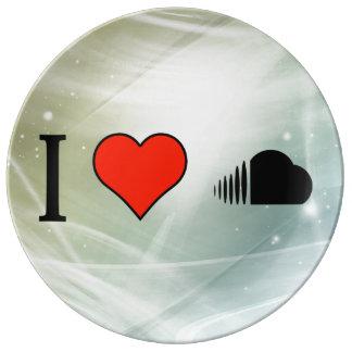 I Love Uploading My Records On Soundcloud Porcelain Plate